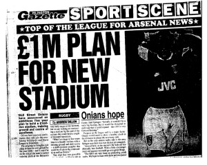 The Onians began submitting their own made-up news stories to the local press in the mid 1990s