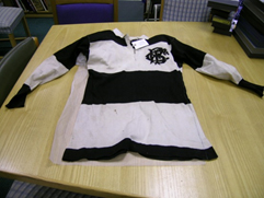 Jersey belonging to G V Evers (1899 British Lions and Barbarians) who played for the Barbarians in the 1902/1903 season.