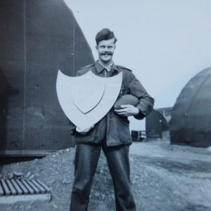 John Odams with the Arctic Shield, 1956