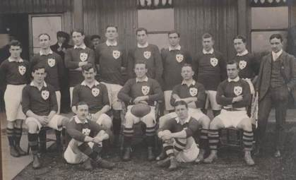 Ireland side that played England in 1909