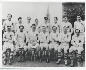 England v Scotland, 1914. Pillman's final international game.