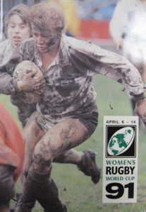 England's Gill Burns on Women's Rugby World Cup programme 1991.