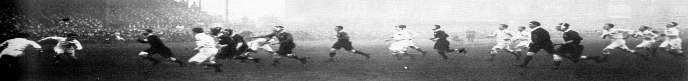 Steyn running with ball 1911 Varsity
