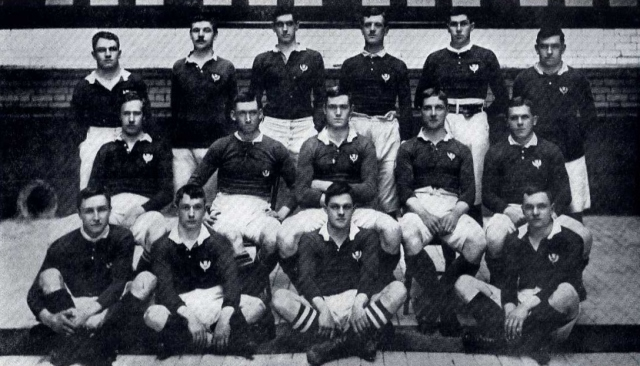 Scotland team, 1903. Jack Dallas (back row 2nd from right)
