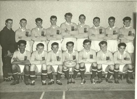 RAF Colts v North Midlands at RAF Gaydon in 1963. Peter Larter is in the middle of the back row.