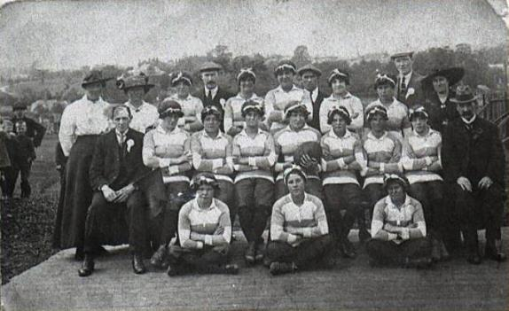 Women's rugby team, Newport, c. 1917/18