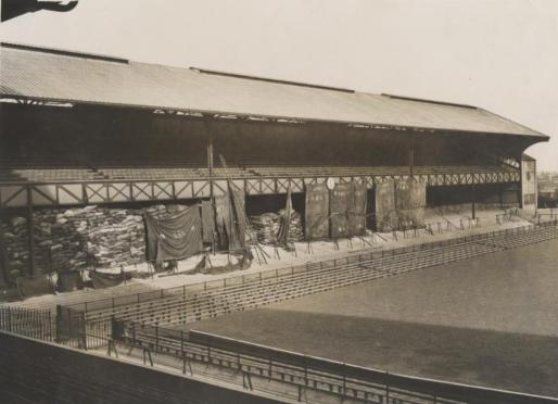 North Stand filled with supplies