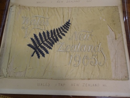 Touch flag from Wales v New Zealand, 1905