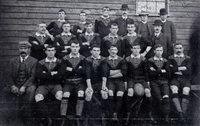 Southland team, 1908. Ridland is front row, third from left.