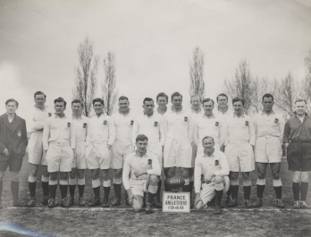 England rugby team v France, 1948