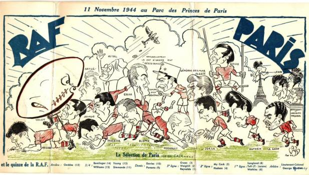 RAF v Paris, 11/11/1944, Parc des Princes