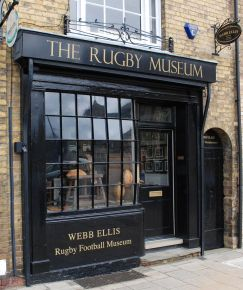 Colour photograph of the front of the Webb Ellis Rugby Football Museum
