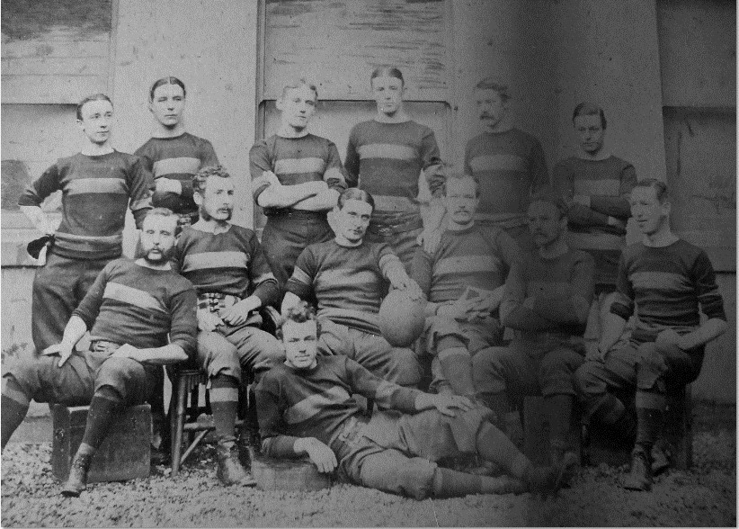 1874 Sunderland team. 13 players seated and standing.